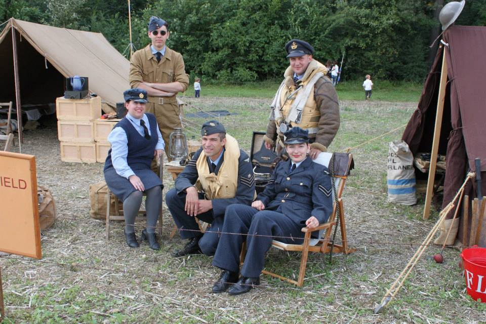 RAF over Switzerland re-enactment group